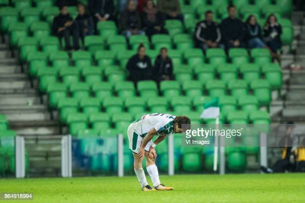 Ritsu Doan of FC Groningen during the Dutch Eredivisie match between FC Groningen and Willem II Tilburg at Noordlease stadium on October 20 2017 in...