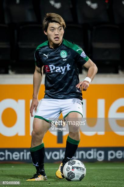 Ritsu Doan of FC Groningen during the Dutch Eredivisie match between Heracles Almelo and FC Groningen at Polman stadium on November 04 2017 in Almelo...