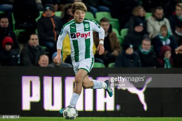Ritsu Doan of FC Groningen during the Dutch Eredivisie match between FC Groningen and Feyenoord Rotterdam at Noordlease stadium on November 25 2017...