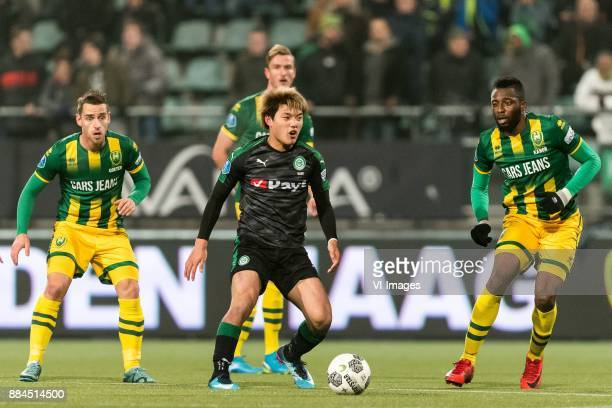 Ritsu Doan of FC Groningen during the Dutch Eredivisie match between ADO Den Haag and FC Groningen at Cars Jeans stadium on December 02 2017 in The...