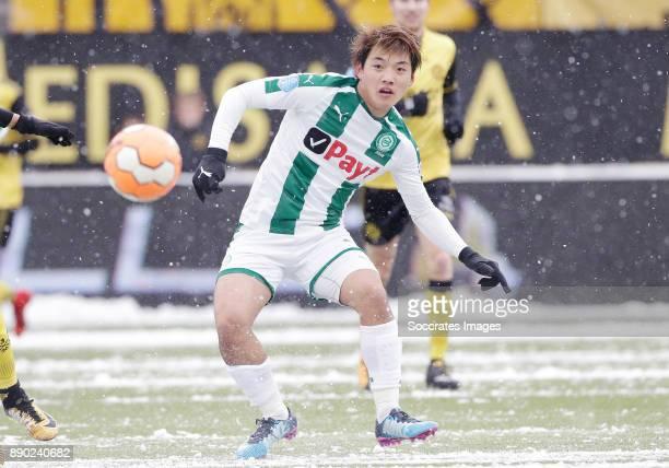 Ritsu Doan of FC Groningen during the Dutch Eredivisie match between Roda JC v FC Groningen at the Parkstad Limburg Stadium on December 10 2017 in...
