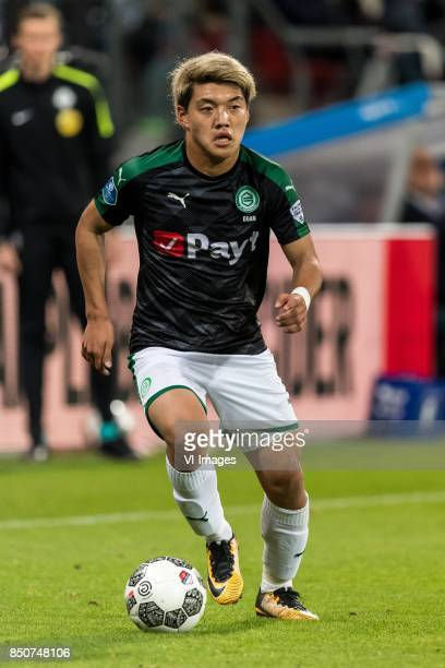 Ritsu Doan of FC Groningen during the First round Dutch Cup match between USV Hercules and FC Groningen at the Galgenwaard Stadium on September 21...