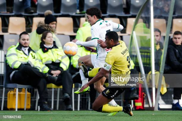 Ritsu Doan of FC Groningen Jerold Promes of VVV Venlo during the Dutch Eredivisie match between VVVvVenlo FC Groningen at the Seacon Stadium De Koel...