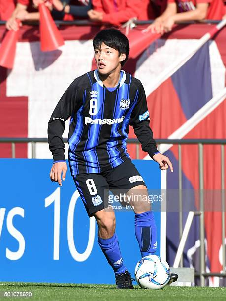 Ritsu Doan of Gamba Osaka Youth in action during the Prince Takamado Trophy All Japan Youth Football League Championship match between Kashima...