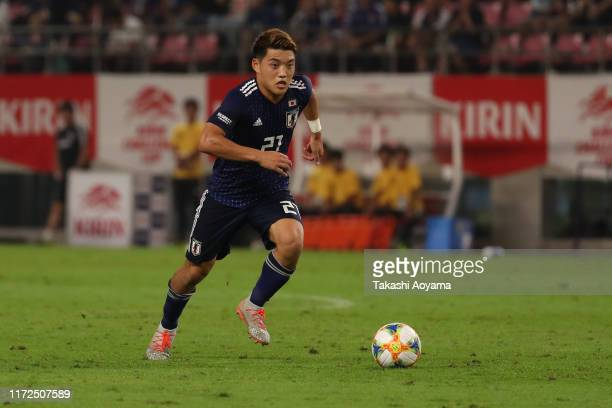 Ritsu Doan of Japan in action during the international friendly match between Japan and Paraguay at Kashima Soccer Stadium on September 05, 2019 in...