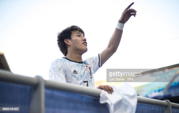 Ritsu Doan of Japan is seen after the FIFA U20 World Cup Korea Republic 2017 group D match between South Africa and Japan at Suwon World Cup Stadium...