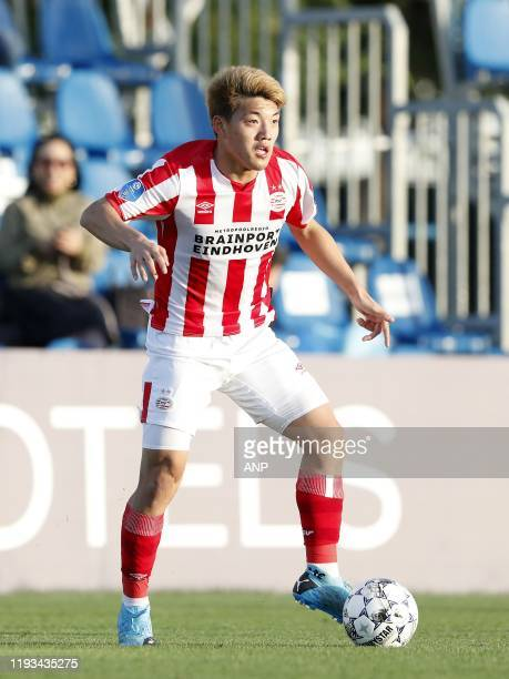 Ritsu Doan of PSV during a international friendly match between PSV Eindhoven and KAS Eupen at Aspire Academy on January 11, 2020 in Doha, Qatar