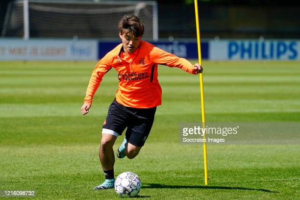 Ritsu Doan of PSV during the Training PSV at the PSV Campus De Herdgang on May 29 2020 in Eindhoven Netherlands