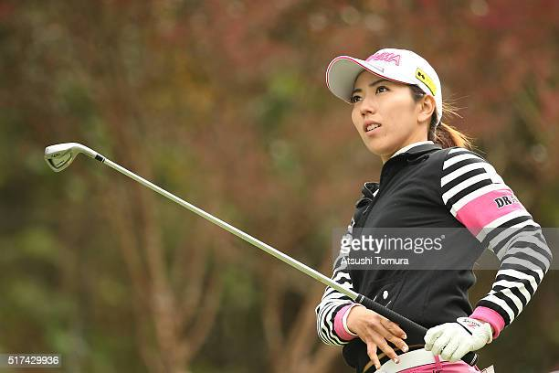 Ritsuko Ryu of Japan looks on during the first round of the AXA Ladies Golf Tournament at the UMK Country Club on March 25 2016 in Miyazaki Japan