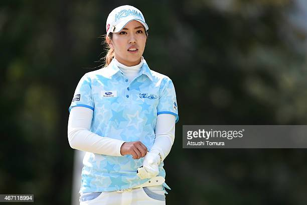 Ritsuko Ryu of Japan looks on during the second round of the TPoint Ladies Golf Tournament at the Wakagi Golf Club on March 21 2015 in Takeo Japan