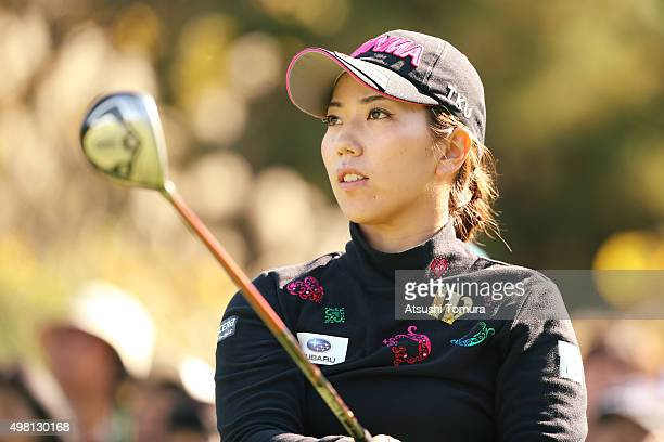 Ritsuko Ryu of Japan looks on during the third round of the Daio Paper Elleair Ladies Open 2015 at the Itsuurateien Country Club on November 21 2015...