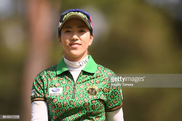 Ritsuko Ryu of Japan smiles during the second round of the World Ladies Championship Salonpas Cup at Ibaraki Golf Course West Course on May 4 2018 in...