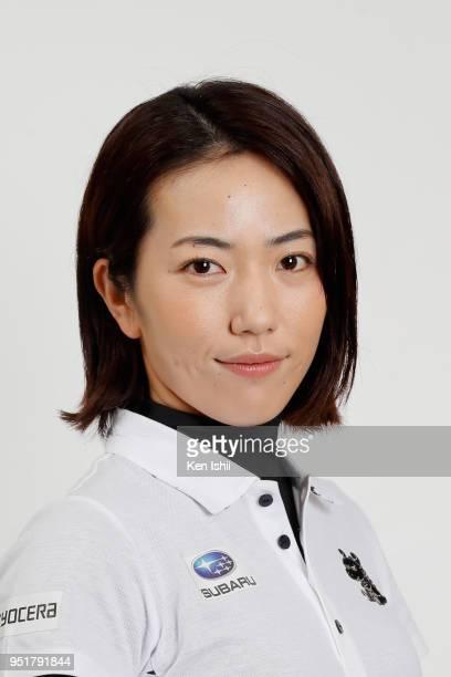 Ritsuko Ryu poses for photographs during the Japanese LPGA portrait session on February 27 2018 in Nanjo Okinawa Japan