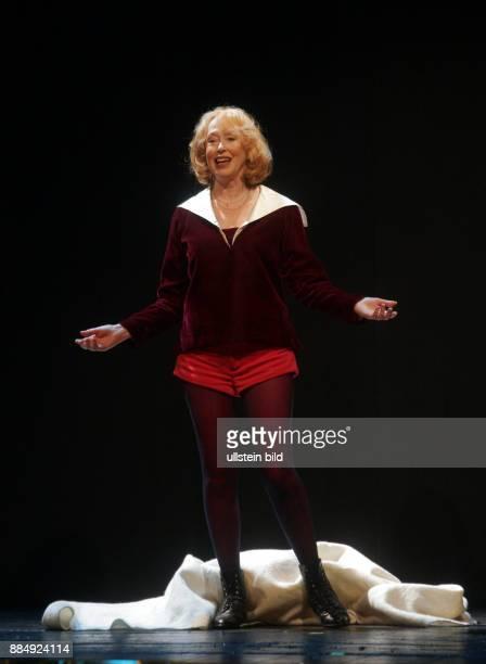 Ritter Ilse Schauspielerin D Bei Proben zu 'Was ihr wollt' im Renaissance Theater in Berlin