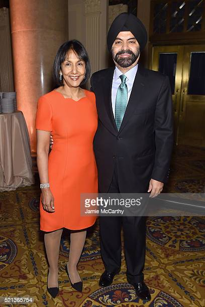 Ritu Banga and CEO at Mastercard Ajay Banga attend Stand Up To Cancer's New York Standing Room Only presented by Entertainment Industry Foundation...