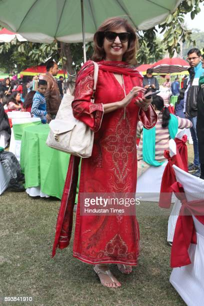 Ritu Mahajan during the Winter Carnival 2017 organised by NGO Tamanna at the Residence of British High Commissioner on December 15 2017 in New Delhi...