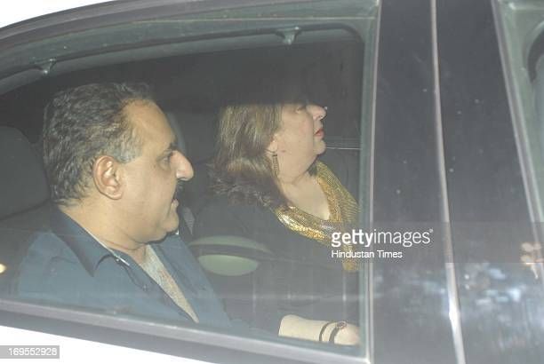 Ritu Nanda Kapoor at the birthday party of Bollywood filmmaker Karan Johar at Manmohan Shetty's house in Juhu on May 25 2013 in Mumbai India