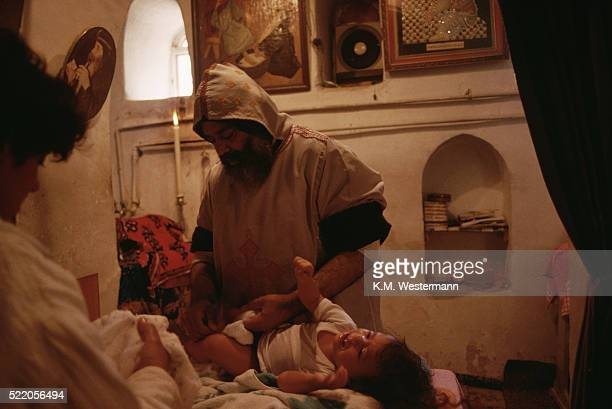 ritual at monastery in egypt - circumcision stock pictures, royalty-free photos & images