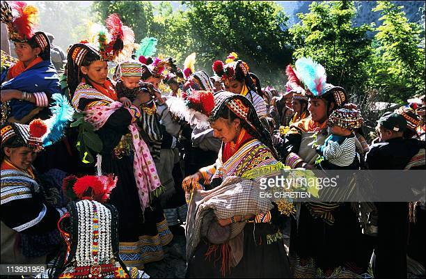Ritual for newborns Kalash Festival Of Joshi In Pakistan In 2001Suri prao At the first light of the very first day of Joshi women who have given...