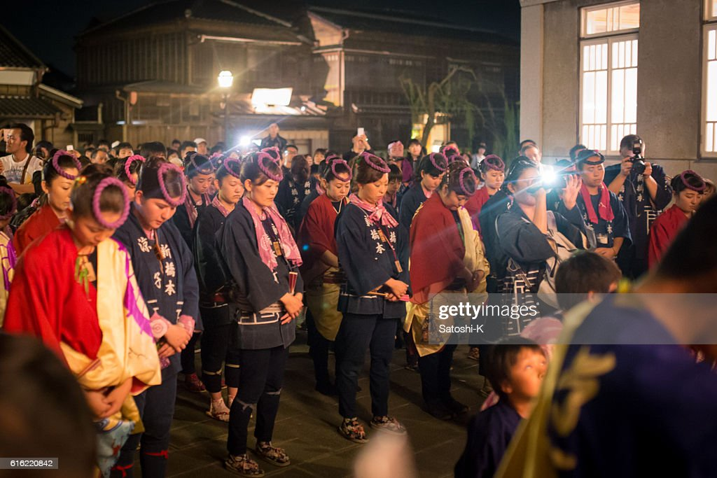 Ritual for returning parade float - Sawara Autumn Festival : Bildbanksbilder