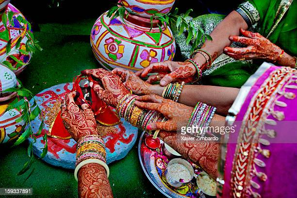 A ritual marking the start of the wedding ceremony where in Lord Ganesha is placed on wheat and the groom prays for successful wedding life by...