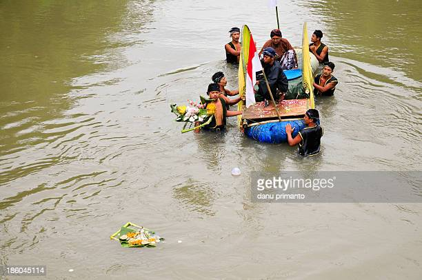 CONTENT] Ritual offerings is threw out into Opak River by some men It's being the main agenda in Labuhan Opak a Javanese ritual to commemorate 1000...