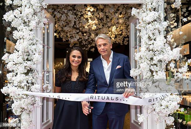 Rituals CEO Raymond Cloosterman and Uk Managing Director Penny Grivea attend the grand opening ceremony for Rituals flagship COVENT GARDEN STORE on...