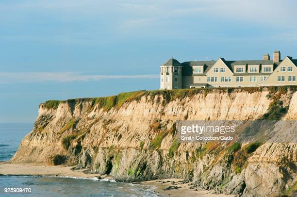 Ritz Carlton Half Moon Bay luxury hotel on sea cliffs over the Pacific Ocean in Half Moon Bay California December 22 2017