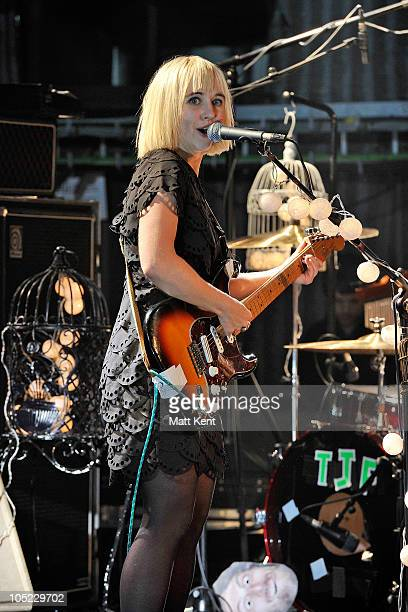 Ritzy Bryan of The Joy Formidable performs at Barclaycard Mercury Prize Session at The Hospital on October 12 2010 in London England
