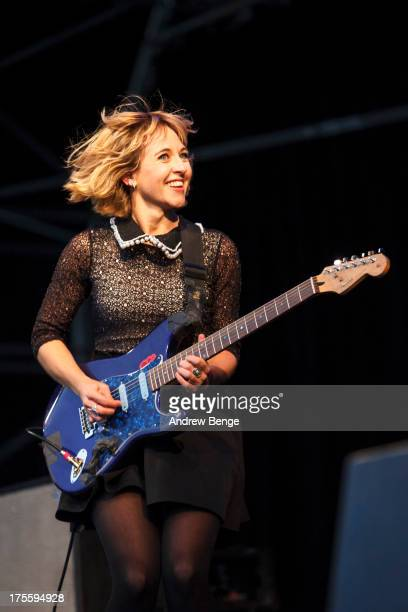 Ritzy Bryan of The Joy Formidable performs on stage on Day 3 of Y Not Festival on August 4 2013 in Matlock England