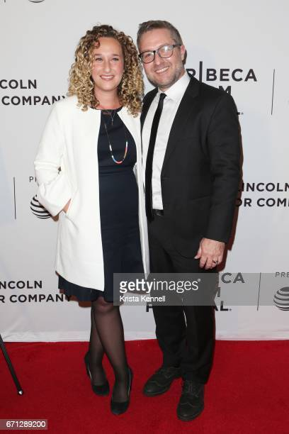 Riva Marker and Director Greg Campbell attend the Hondros World Premiere during the 2017 Tribeca Film Festival at Cinepolis Chelsea on April 21 2017...