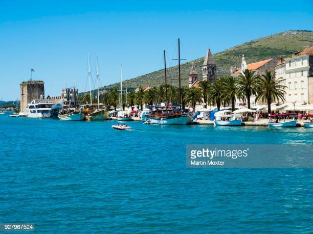 Riva Promenade and Palazzo, Old Town Trogir, UNESCO World Cultural Heritage, Split region, Middle Dalmatia, Dalmatia, Adriatic coast, Croatia