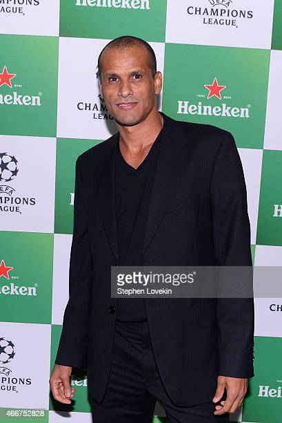 Rivaldo attends the VIP launch party for the UEFA Champions League Trophy Tour Presented by Heineken at Skylight Modern on March 18 2015 in New York...