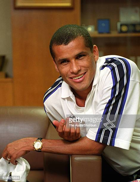 Rivaldo of Barcelona poses for photographs during the Asahi Shimbun interview on June 9 2000 in Tokyo Japan