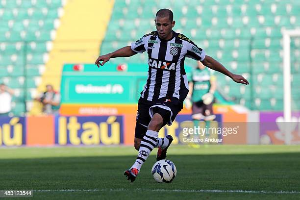 Rivaldo of Figueirense in action during a match between Figueirense and Sport as part of Campeonato Brasileiro 2014 at Orlando Scarpelli Stadium on...