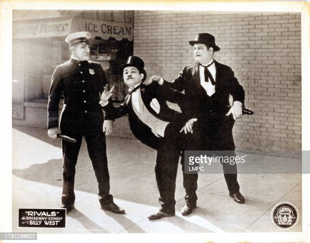 Rivals lobbycard Billy West Oliver Hardy 1925