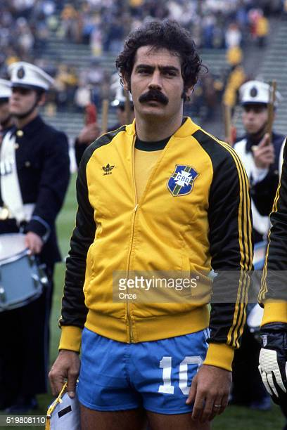 Rivelino during the match between Brazil and Sweden played at Mar Del Plata Argentina on June 3rd 1978