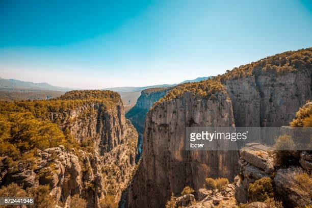 river and big rocks with tazi canyon, antalya - antalya province stock pictures, royalty-free photos & images