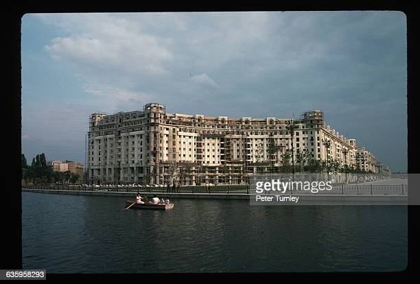 River and Building in Bucharest