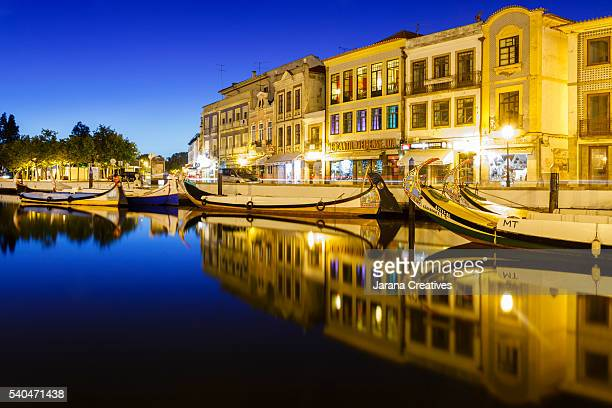 River and canals of Aveiro (Portugal)