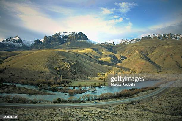 river at patagonia - radicella stock photos and pictures