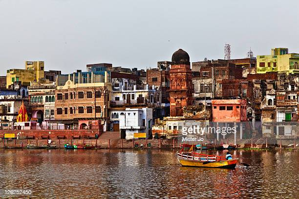 River bank of old city of Mathura
