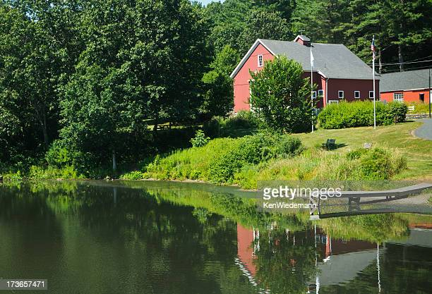 river bend reflections - massachusetts stock pictures, royalty-free photos & images