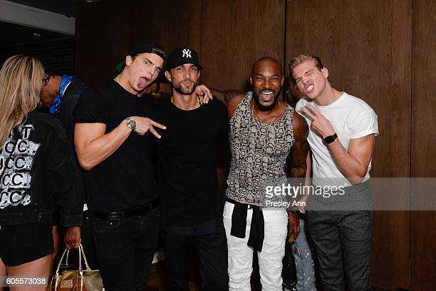 River Biiberi Tyson Beckford and Matthew Noszka attend Interview Topshop Celebrate the Interview September Issue on September 13 2016 in New York City