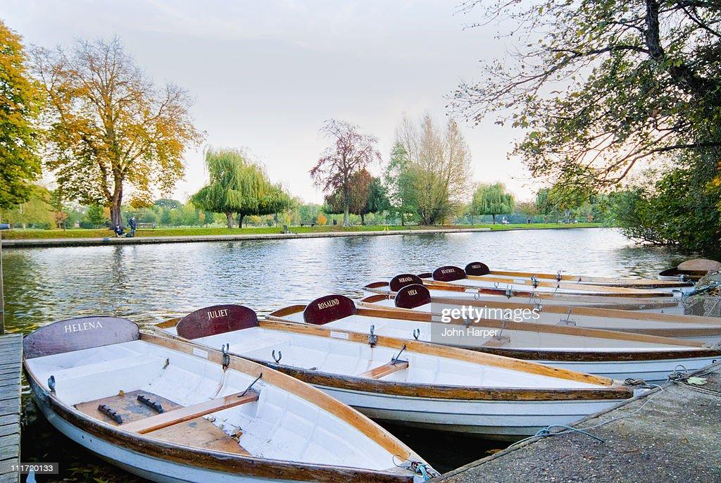 River boats, Stratford upon avon, England. : Stock-Foto