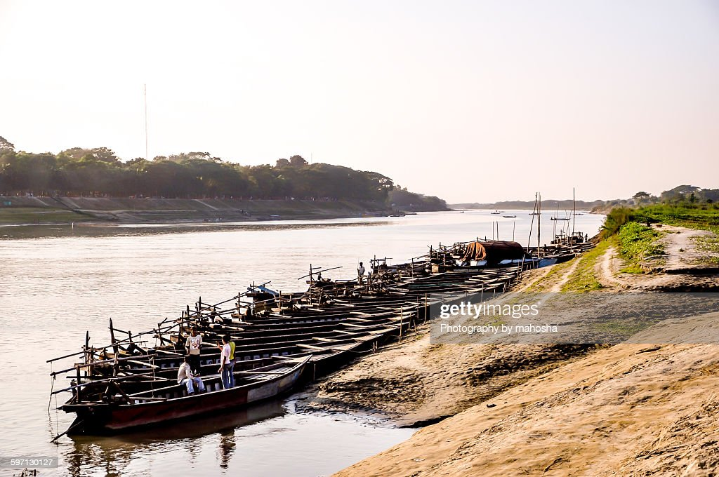River Brahmaputra : Stock Photo
