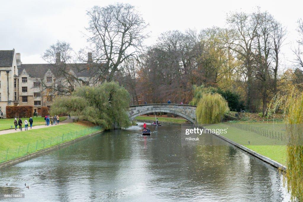 River Cam in Cambridge England city scene : Stock Photo