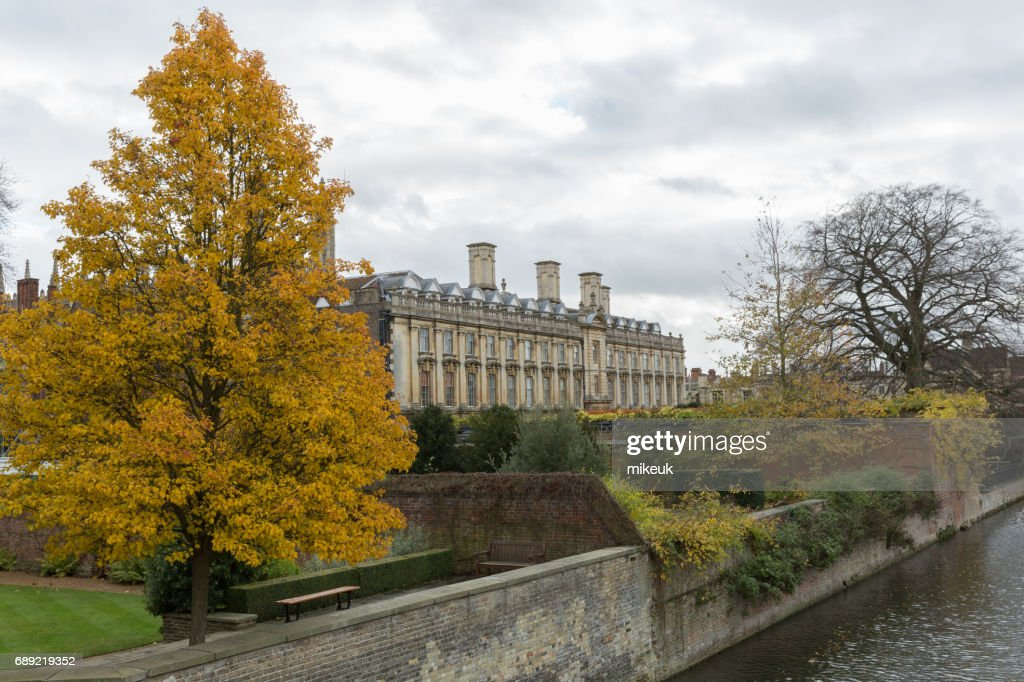 River Cam in Cambridge England city scene : Stock Photo