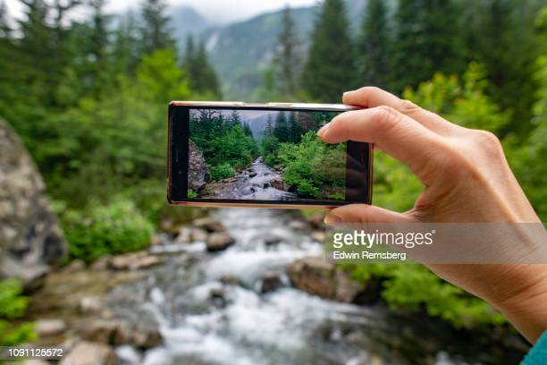 river captured - zakopane stock pictures, royalty-free photos & images