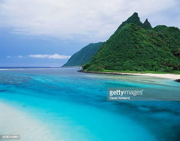 A river channel running through Ofu Island; American Samoa